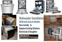 Dishwasher Installation by Professional Installer - New- Replace
