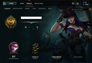 League of Legends account * 44 Champions 34 Skins*