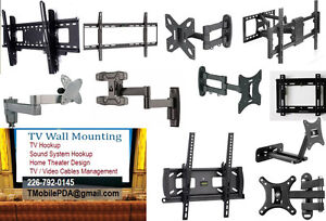 TV Wall Mounting and Hookup - We also Sell TV Mounting Brackets.