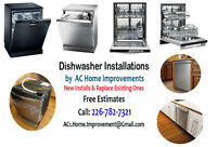 Dishwasher Installation by Professionals - New Install & Replace