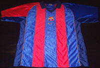 NIKE SPORTS BARCELONA Football Soccer Jersey in RED - BLUE Large