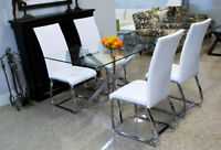 NEW 5 PIECE DINING SET: TABLE AND 4 CHAIRS $505 ONLY