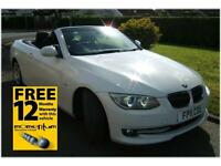 BMW 325 CONVERTIBLE 3.0TD SE 2011 11 reg with 34k