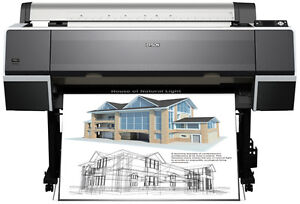 Epson Stylus Pro 7700 plotter printer + ink and paper supplies