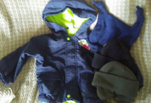 Boys size 18 months jacket with 3 hats