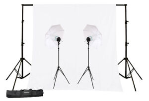3400w Photo Video Umbrella Kit + Background & Stand!!!