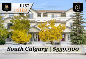 UPGRADED END UNIT 3 STOREY TOWNHOUSE IN SOUTH CALGARY FOR SALE