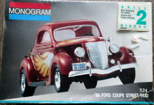 1936 Ford Coupe Street Rod Model Car Kit