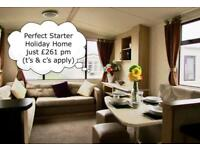 Immaculate Starter Static Caravan For Sale on Sea Front Park in North Wales