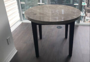 BRAND NEW MARBLE TOP DINING TABLE