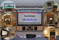 Home Entertainment System - Design & Implement - TV & Projectors