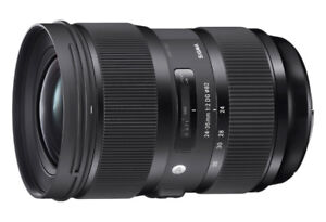 Almost NEW Sigma ART Nikon lens! Still under manufacturer warr.