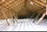 Attic insulation, loose fill, blow in