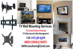 TV Wall Mounting and Ceiling Mounting Services - Cable Conceals.