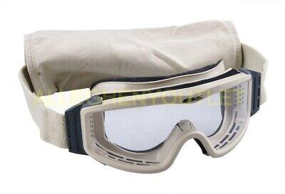 US Military ESS Profile NVG Ballistic Goggles - Desert Tan Clear, USGI Eye -