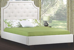 ,GORGEOUS UPHOLSTERED FABRIC HEADBOARD/BEDS ON SALE NOW