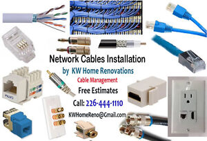 Networks patch Cables any length - Wires - connectors replace .