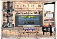 Home Entertainment Centre - Design - Install - Cable Management.