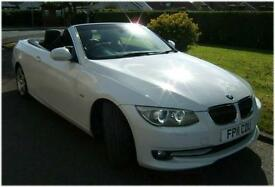 RARE BMW 325 CONVERTIBLE 3.0L 204bhp Diesel SE 6 Cylinder 2011 just 34k miles!