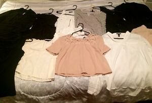 Tons of women's brand name clothes SM & MED