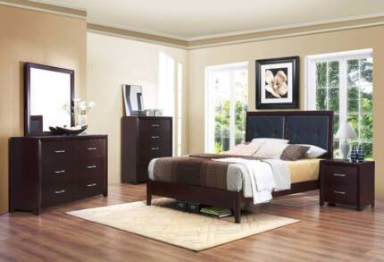 Incredible Brand New 4 pce Edina Queen Bedroom Suite With Tallboy