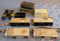 4 Minolta 16(mm) sub-miniature spy film cameras. NOT 110 cameras