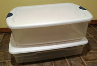 2 storage clear plastic container