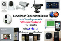 Surveillance Camera Video Doorbells Wifi Thermostat Installation