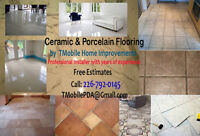 Ceramic - Porcelain - Vinyl Flooring - Professional Installation