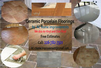 Ceramic Porcelain & Vinyl Tiles Install - Professional Installer