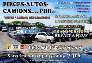 MOTEURS-TRANSMISSIONS-PIÈCES AUTO/CAMION RECYCLEUR