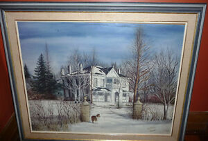 "Toronto Artist Roxann Vivian Smith ""The White House"" Watercolor Stratford Kitchener Area image 1"