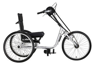"Sun 3-Wheel Adult 24"" Hand Tricycle 3-Speed Shimano Gears Bi"