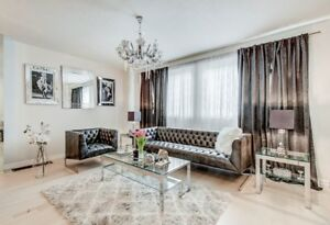 BARCELONA Tufted Leather Modern 3PC Sofa Set