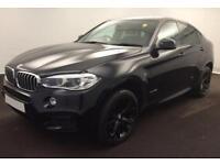 2016 BLACK BMW X6 3.0 XDRIVE40D M SPORT DIESEL AUTO COUPE CAR FINANCE FR £134 PW