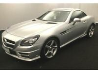2012 SILVER MERCEDES SLK200 1.8 B/EFF AMG SPORT ROADSTER CAR FINANCE FR £46 PW