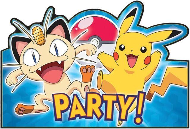Pokemon Pikachu Party Invites Invitations with Envelopes Save Date 1-48pk