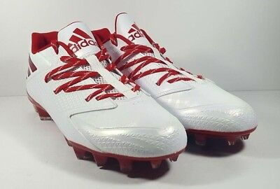 8d60f08c7b0a *NEW* Adidas Freak X Carbon Low Football Cleat QuickFrame D70150 White/Red  Sz 13