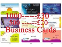 500 business card 400g single sided