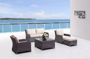 Kiama Wicker Outdoor Lounge 2+1+1+ Ottoman+ Coffee Table