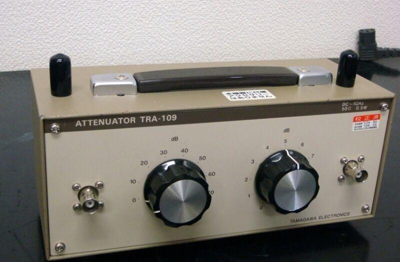 TAMAGAWA TRA-109D BNCJ DC-1GHz 0-80dB Rotary step Attenuator