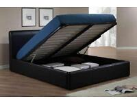 *QUALITY ASSURED*KING SIZE STORAGE LEATHER BED AND MEMORY FOAM LUXURY MATTRESS - BRAND NEW