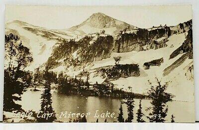 Oregon, Eagle (Oregon Eagle Cap Mirror Lake RPPC Real Photo Postcard J2)