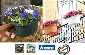 Fioriera bama klunia doppia vaso da balcone ringhiera for Fioriera bama