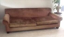 Beautiful brown velvet sofa