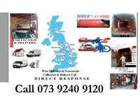 House Removal Flat Shifting Moving Boxes or Bags Collection Delivery Courier Man & Van Hire on call