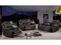 ROMANO 3 AND 2 SEATER RECLINER SOFA - CASH ON DELIVERY OR FINANCE OPTIONS