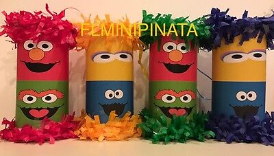 Mini Pinata Party Favors - Sesame Street - Elmo, Big Bird, Cookie Monster, Oscar