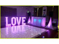 4ft giant illuminated love letters - hire only