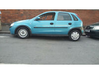 2002 blue vauxhall corsa, great car inside out..